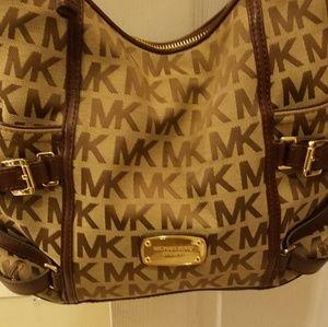 Michael Kors brown & tan hobo bag